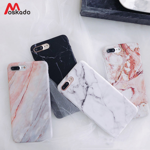 Moskado Phone Case For iPhone SE 2020 6s 7 8 Plus Glossy Granite Stone Marble Texture Cover For iPhone 11 Pro X XS Max XR Shell(China)