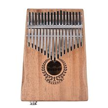 New 17 Keys EQ Kalimba Mahogany Thumb Piano Link Speaker Electric Pickup Bag + Cable 2018 Hot Musical Instruments kalimba piezo pickup mbira accessories thumb piano pick up musical instruments