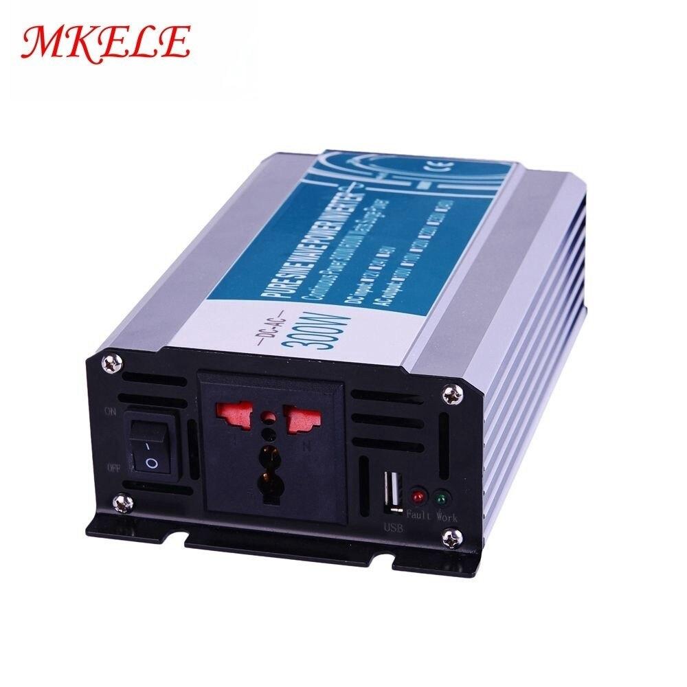 Onduleur électrique DC/AC 12/24/48V à 110/220V 300w petite Watte hors réseau inverseur de puissance sinusoïdale Pure utilisé dans la voiture