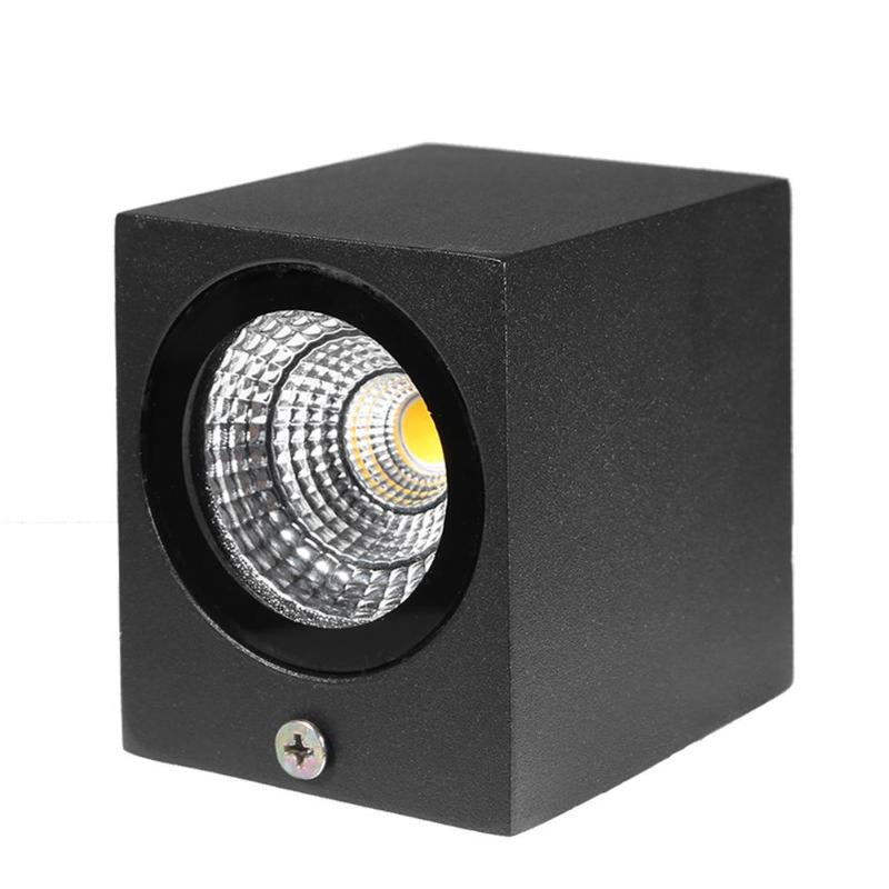 Realistic Ac 85v-265v Modern Brief Cube Led Wall Light Ip65 Waterproof Indoor Outdoor Surface Mounted Lamp Preventing Hairs From Graying And Helpful To Retain Complexion Led Lamps