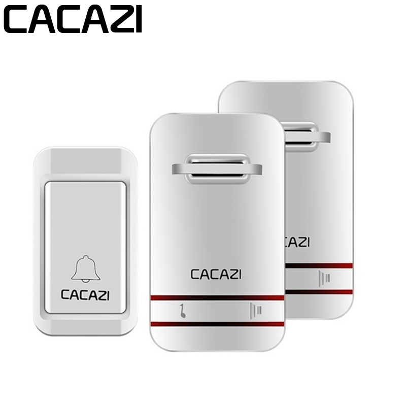 CACAZI Wireless Doorbell No Need Battery LED Light Doorbell Waterproof Cordless Remote font b Electronic b
