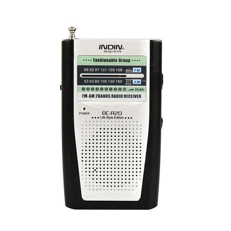 Radio Speaker Mini Portable for INDIN Telescopic-Antenna Dual-Band Fm/am