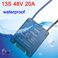 waterproof 13S 48V Li ion Lithium 20A 18650 Battery Protection Board W Balance