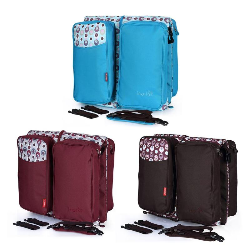 Portable Travel Bed Baby Cribs Diapers Bag Foldable Mummy Shoulder Bag