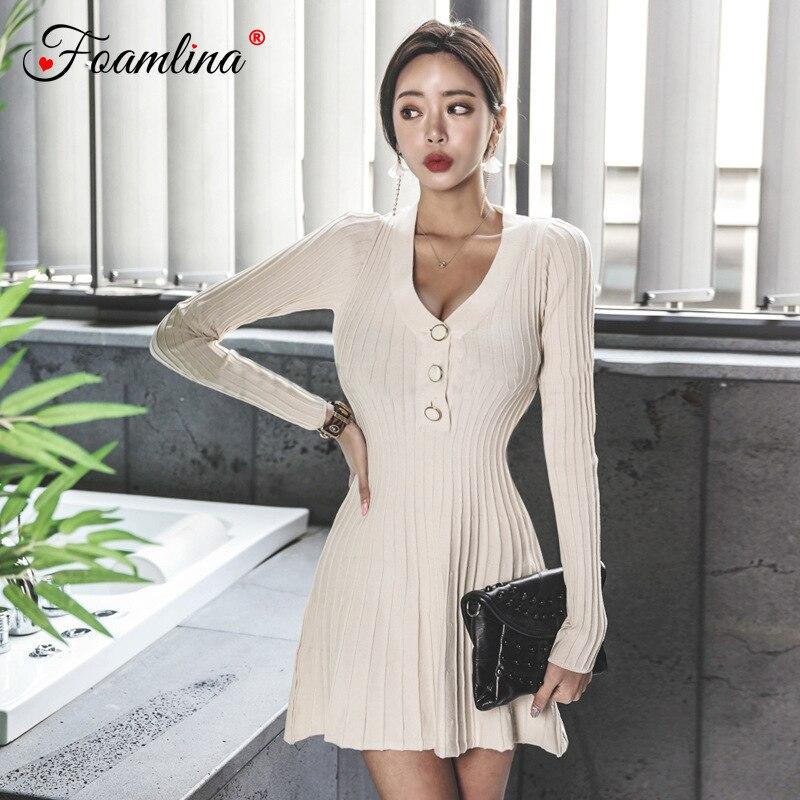 Korean Style V-neck Long-sleeved Knit Cardigan Fashion