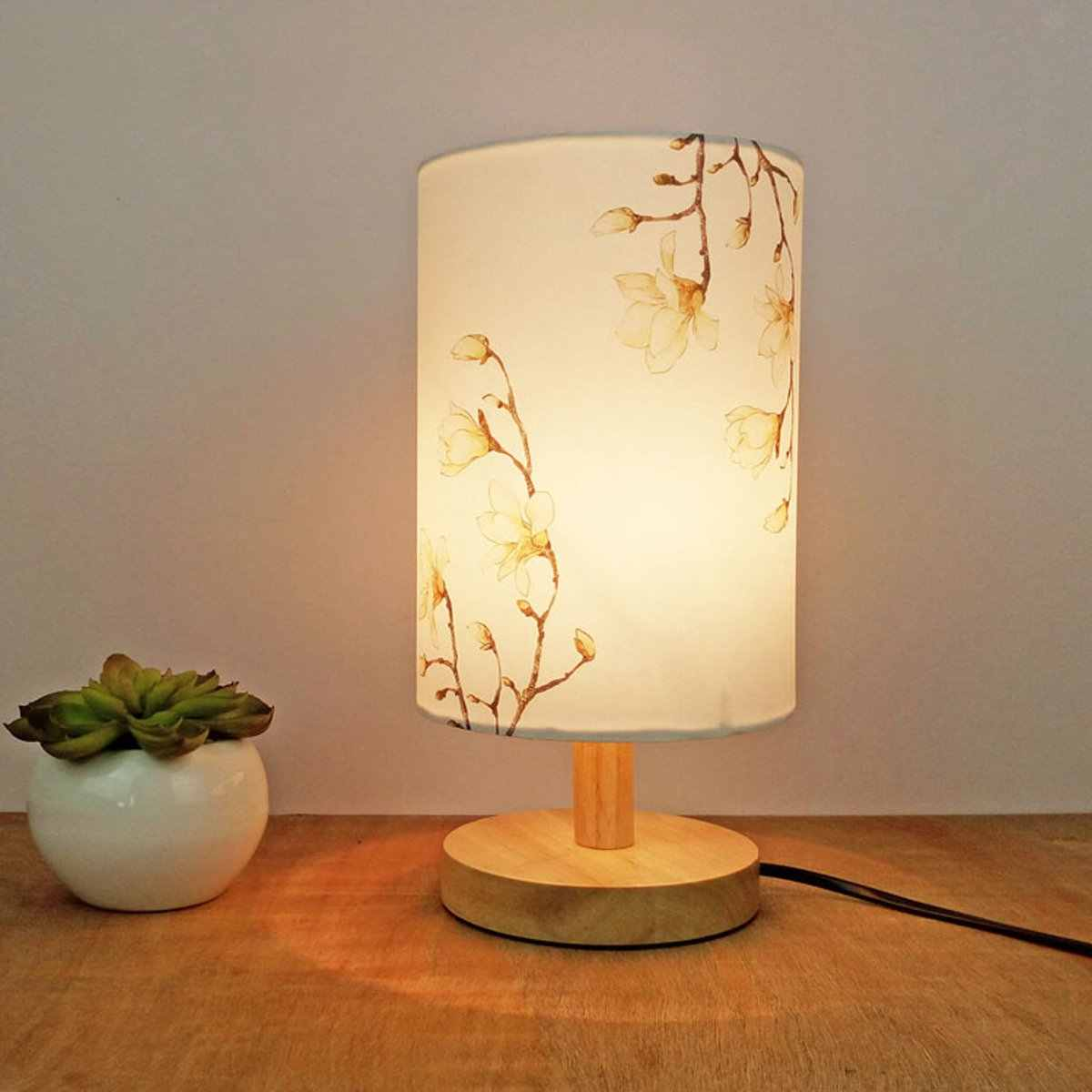 Small Lampshade Floral Bird Lamp Shade Table Ceiling Light Cover Vintage Art