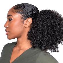 все цены на Fashion Black Women Wig Curly Hair Ponytail Extension Black Brown Material Afro Bun Ponytail Clip Hair Headband Scrunchie