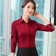 1ccd4a78d1 Buy red blouse formal and get free shipping on AliExpress.com