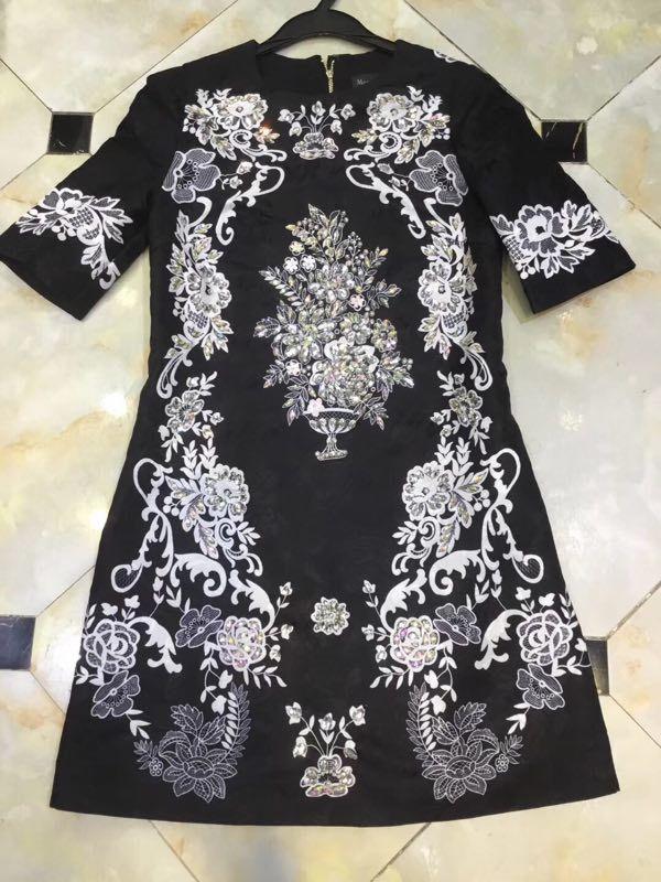 Partie Robe Wd01246 Marque 2019 Mode De Printemps Luxe Design Style Femmes Nouvelle Européenne wqg7Ix0v