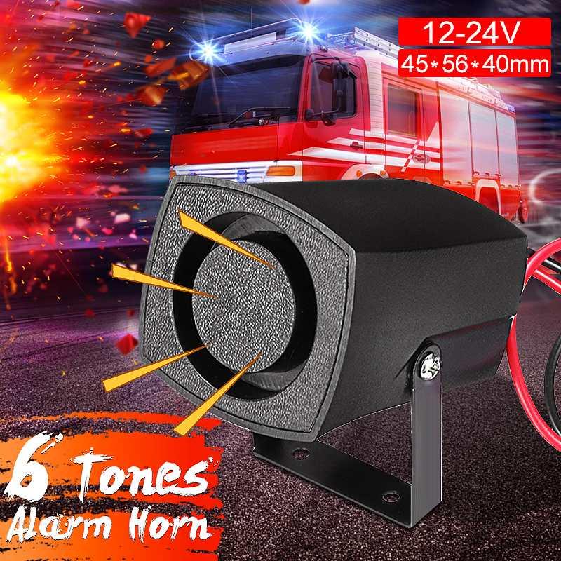 Autoleader 12-24 V Auto Politieagenten Branden Alarm Hoorn 6 Tones Sirene Pieper Zoemer Auto Alarm Geluid