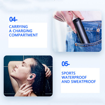 Headphone For Iphone   KISSCASE Mini Sports Wireless Earphone Mini Earphones Headsets Mini Earbuds Stereo Music For Iphone X 6 7 8 Plus Samsung Xiaomi