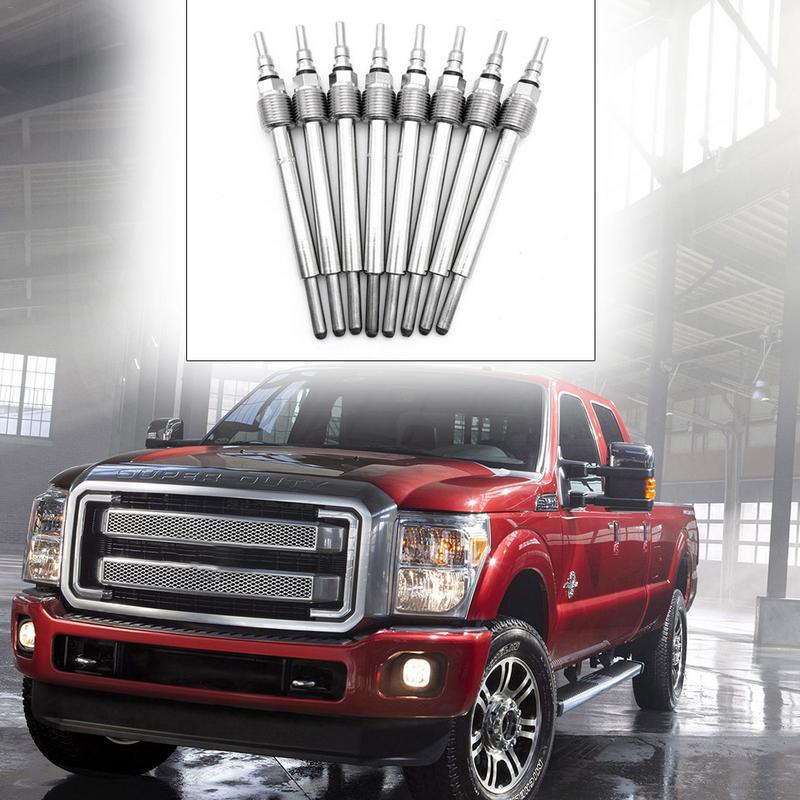 8 Pcs Diesel Glow Plugs for 2004-2010 Ford E350 E450 F250 F350 F450 F550 Super Duty Excursion Truck 6.0L Powerstroke Replace# 4C3Z-12A342-AA