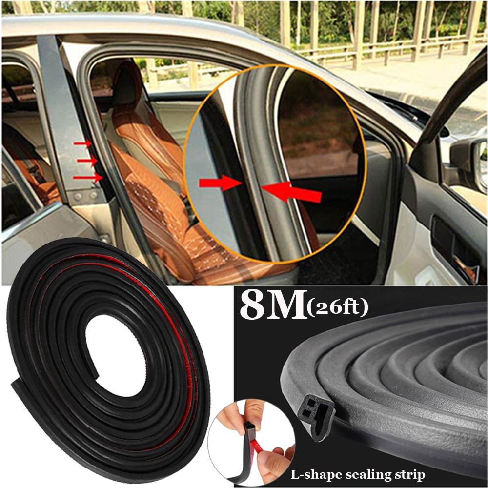 L Shape Car Door Edge Hood Trunk Rubber Weatherstrip Seal Strip