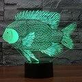 Illusion energiesparende 3d Led Nacht Lampe Papier cut Fisch Dekoration Usb Led Schreibtisch Lampe Schöne cartoon kinder spielzeug tisch Lampen