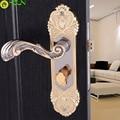 Европейский стиль  закрытый дверной замок  дверные замки для спальни  титановая черная золотая ручка  замок  дверная ручка для ванной комнат...