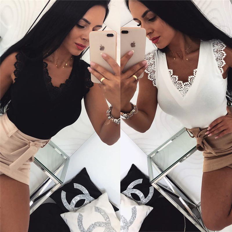 Blouses & Shirts Sexy Women Bandage Floral Lace Slim Bustier Solid Blouse Shirt Women Club Party Top Shirt Vest Hot Clothes
