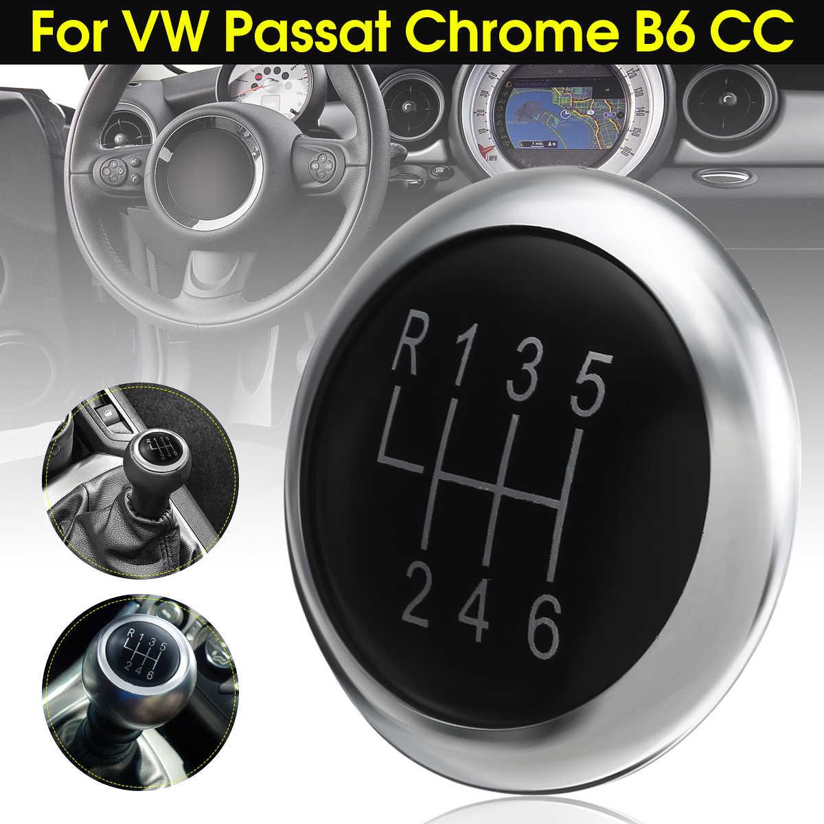 Nieuwe 6 Speed Pookknop Stok Badge Embleem Trim Cap Cover Voor VW Passat B6 2005-2011 B7 2010 -2014 CC 2009-2012