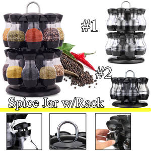 Organizer Rack Shelf-Jars Stand Bottle-Holder Display Rotating Kitchen Countertop 1-Layer/2-Layers