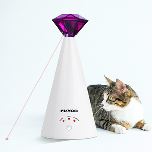 Image 5 - 1PC Diamond Laser Cat Toy Rotating Electric Interactive Pet Laser Pointer Training Supplies Pet Toy For Cat Kitten Pet