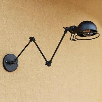 Applique murale Vintage rétro industrielle Style Loft noir Edison ...