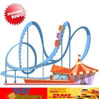 Творческий парк развлечений горки набор модель Buidling Конструкторы кирпичи игрушечные лошадки рождественские подарки Совместимость LegoINGlys