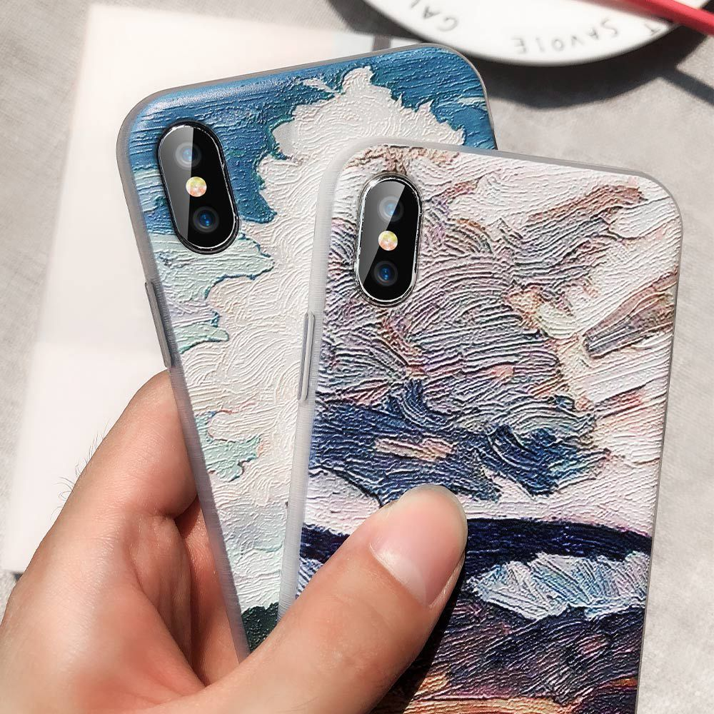 CASEIER Oil Paint Case For Huawei P20 Lite Mate 20 10 Pro P10 P9 Case For Honor Y9 8X 7C Nova 3i P Smart 2019 TPU Funda Capa in Fitted Cases from Cellphones Telecommunications