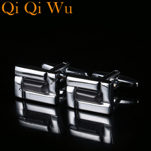 New Crystal Brand Cuff links High Quality Lawyer Groom Wedding Cufflinks For Mens Shirt Cufflink Free Shipping Qi Wu