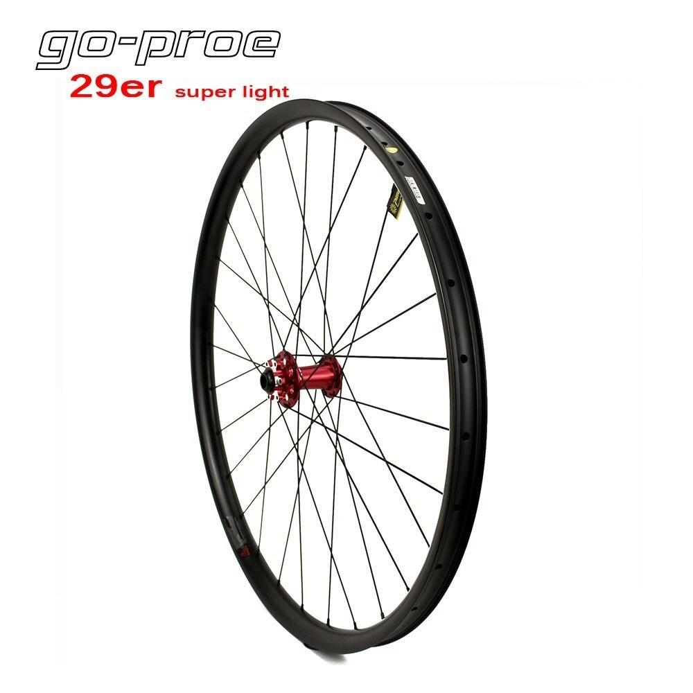 Super Light 29er Mountain Bike Carbon Wheel Tubeless Ready MTB Rim 270g Only For Cross Country Wheelset Chinese Novatec Hub