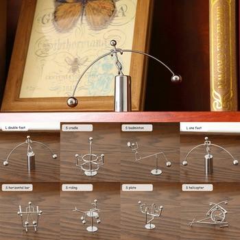 Metal Man Hogar Small Iron Man Perpetual Balance Physics Science Pendulum Newton Cradle Tumbler Desk Toy Home Decor 1