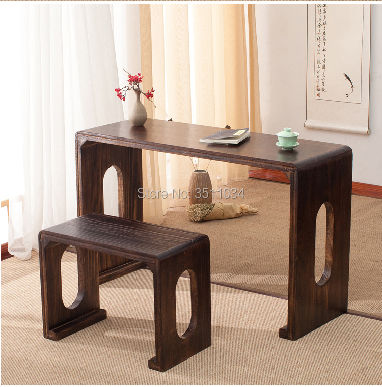 110x40x68cm Wood Piano Table Stool Set Rectangle Asian