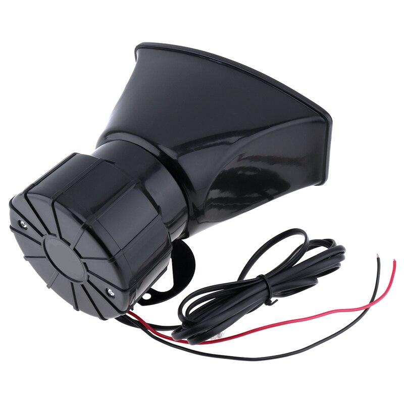 100W Dc12V 120Db 7 Sound Car Electronic Warning Siren Motorcycle Alarm Firemen Ambulance Loudspeaker