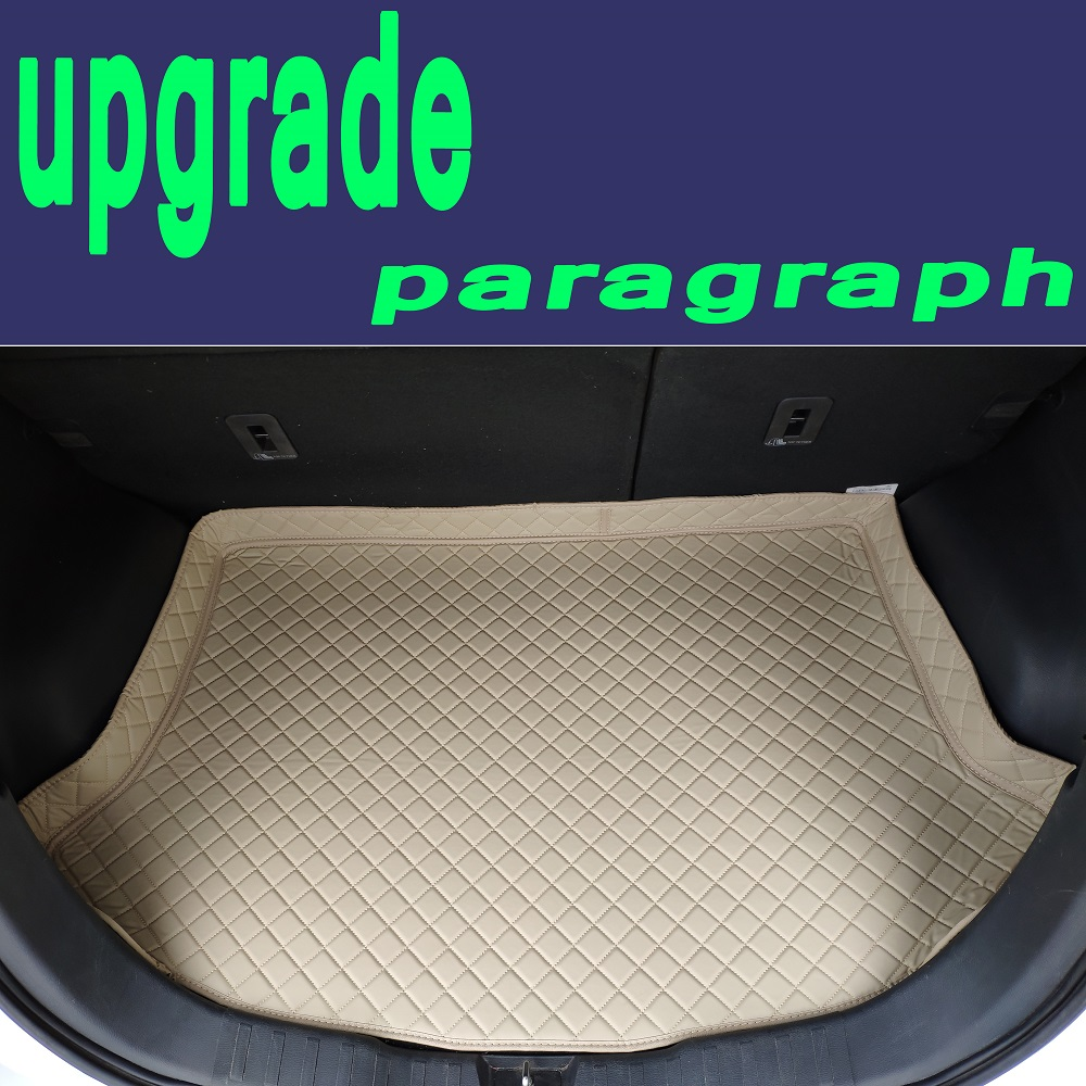 ZHAOYANHUA Custom fit car Trunk mats for Volkswagen Beetle CC Eos Golf Jetta Tiguan Touareg sharan 5D carpet floor liner