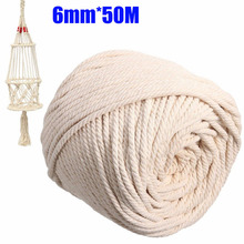 4 Sizes 2/3/4/5/6mm Cotton Beige Macrame String Rope Natural Twisted Cord Artisan Hand Craft DIY Handmade Home Decorative