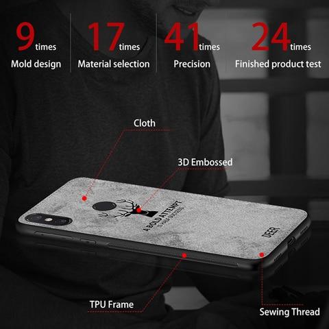 Luxury Deer Cloth Phone Case For Xiaomi Mi 9 A2 Light 8 Lite Pocophone F1 Cases Tpu Cover For Xiaomi Redmi 7A Note 7 8 A7 Global Karachi