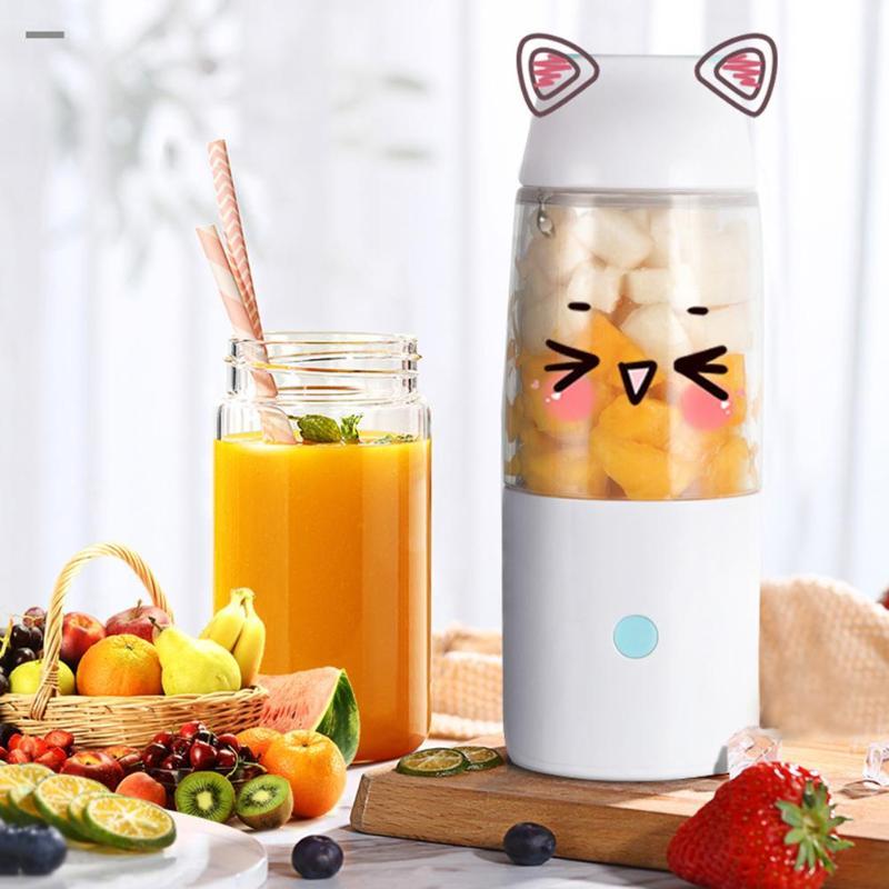 400ml Juicer Cup Electric USB Rechargeable Smoothie Blender Machine Mixer Juice Maker Food Processor Kitchen Fruit Tools|Manual Juicers| |  - title=