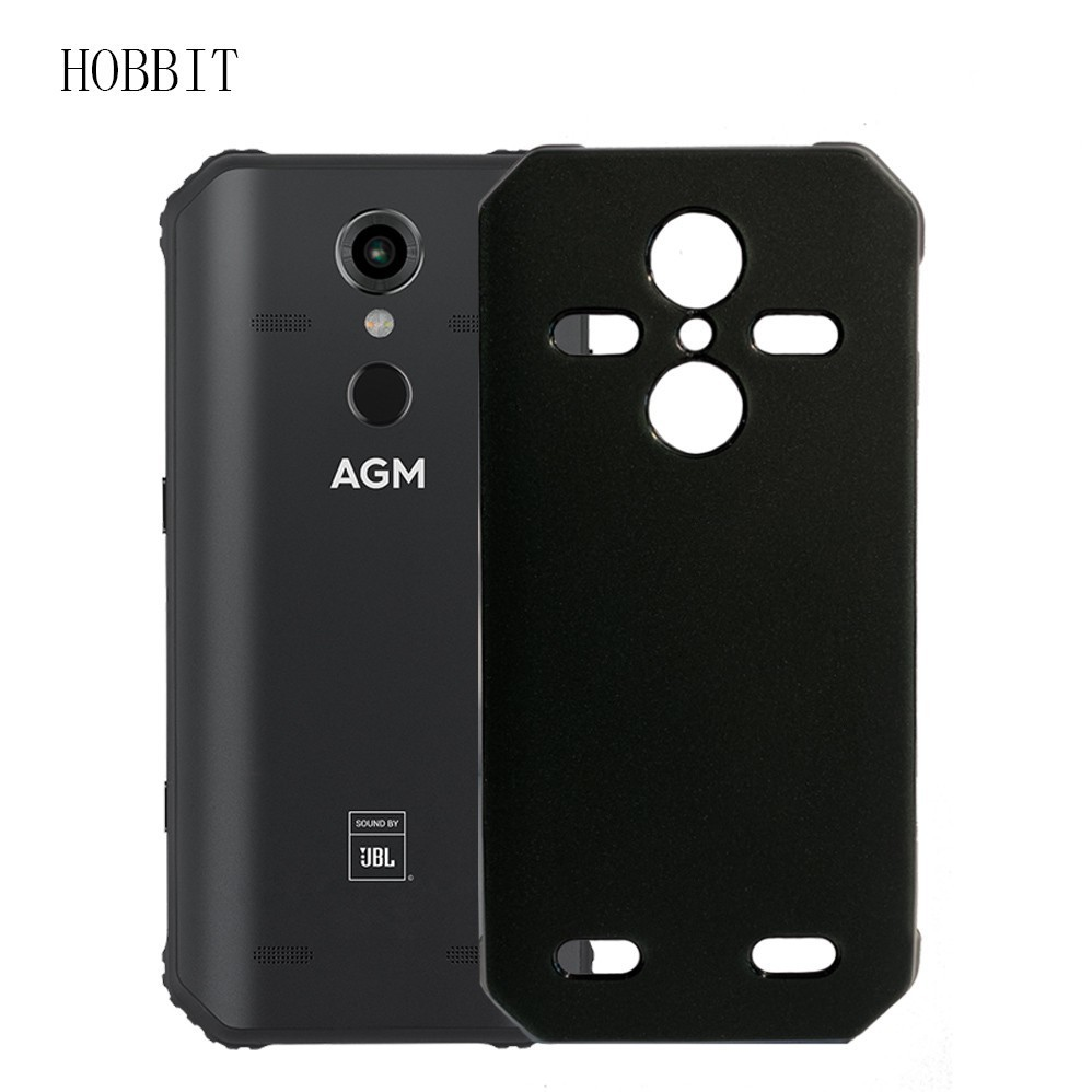 Matte Black Case For AGM A9 A9 JBL H1 Soft TPU Silicone Back Cover Case Shockproof Back Colored Cover Cases For Agm X3 X2 X1