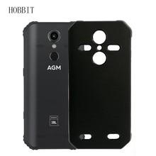 Étui noir mat pour AGM A9 A9 JBL H1 étui arrière souple en Silicone or polyuréthane thermoplastique étui antichoc couleur arrière housses pour Agm X3 X2 X1