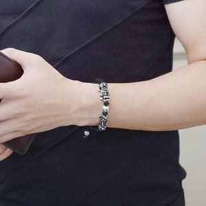 Image 5 - Handmade Good Luck Man Bracelet Fengshui Pixiu Bracelet 3D 999 Silver Wealth Pixiu Beaded Bracelet Man Gift