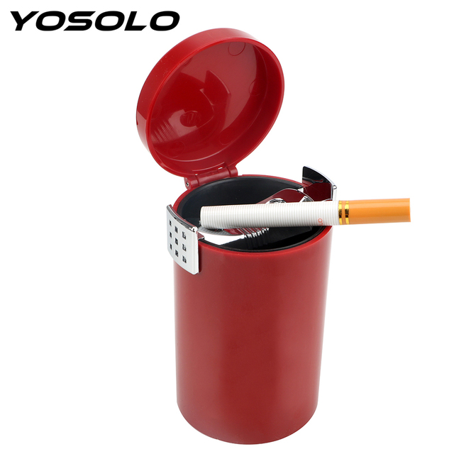 YOSOLO Auto Trash Bin Multifunction Storage Cup Holder Car Ashtray Cigar Ash Tray Cigarette Smoke Holder Smoke Ash Cylinder