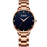CIVO Luxury Gold Ladies Watches Women Watches Clock Stainless Steel Women'S Bracelet Watches Relogio Feminino Montre Femme