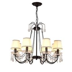 Modern Vintage E14 nordycka czerń żelaza oświetlenie ledowe żyrandol oprawy dla Loft schody salon sypialnia lampa do jadalni