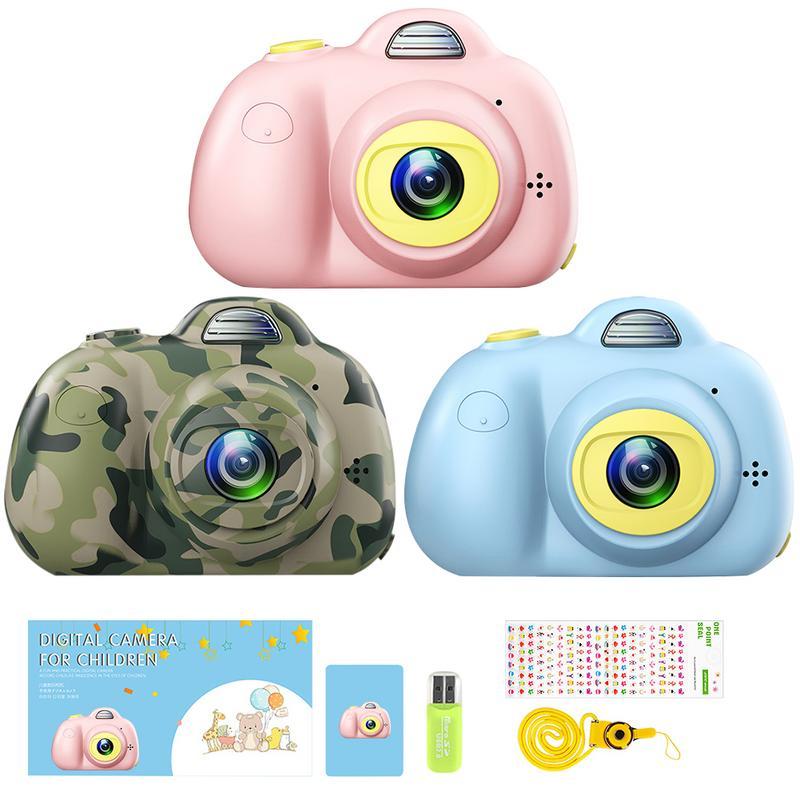 Enfants Mignon Animal Jouet Caméra Mini Appareil Photo Numérique Petit REFLEX Double-Lentille Sport Jouet Caméra Pour L'éducation Des Enfants Jouets