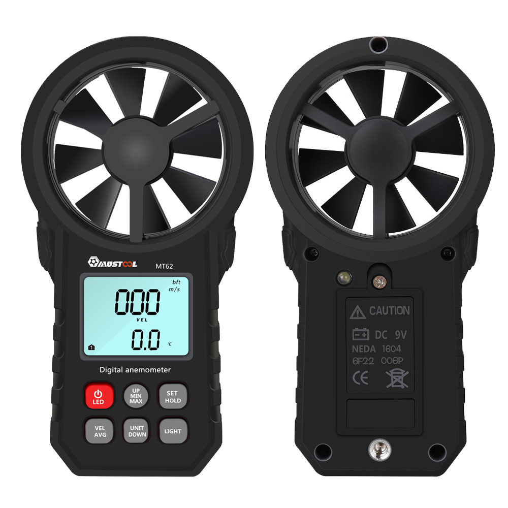 MUSTOOL MT62 Digital Anemometer Wind Scale Air Volume Measure Temperature Meter Real-time Average Wind Speed Air Volume MeterMUSTOOL MT62 Digital Anemometer Wind Scale Air Volume Measure Temperature Meter Real-time Average Wind Speed Air Volume Meter