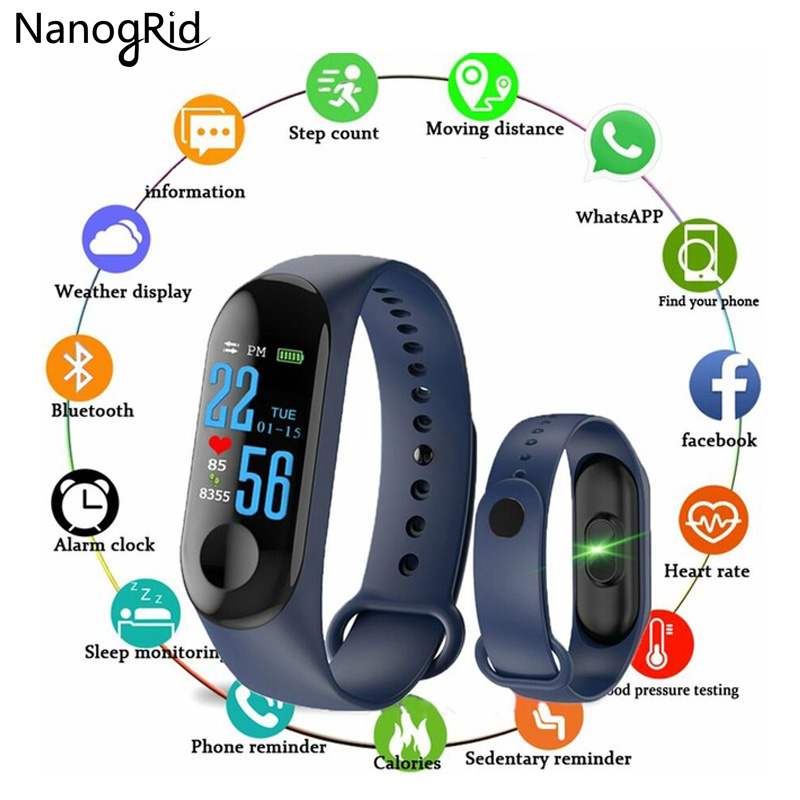 Fitness Bracelet Blood Pressure Outdoor Ips Screen Heart Rate Monitor Smart Wristbands M3 Waterproof For Men Women Child Watch Making Things Convenient For The People Children's Watches
