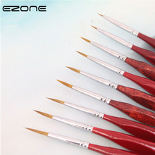 EZONE Red Triangle Pole Paint Brush Fine Hand-painted Hook Line Pen Easy To Handle Watercolor Painting Oil Art Supply