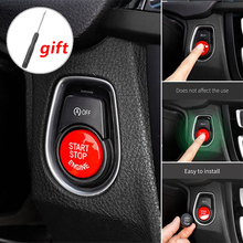 1pc red car Engine Start Stop Button Cover Fit For BMW F Chassis Series F10 F20 F30 Replacement