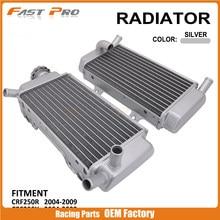 Производительность мотоцикла алюминиевый радиатор водяного бака охлаждения для HONDA CRF250R CRF250X CRF 250R 250X 250 R X 2004-2009 2005 2006