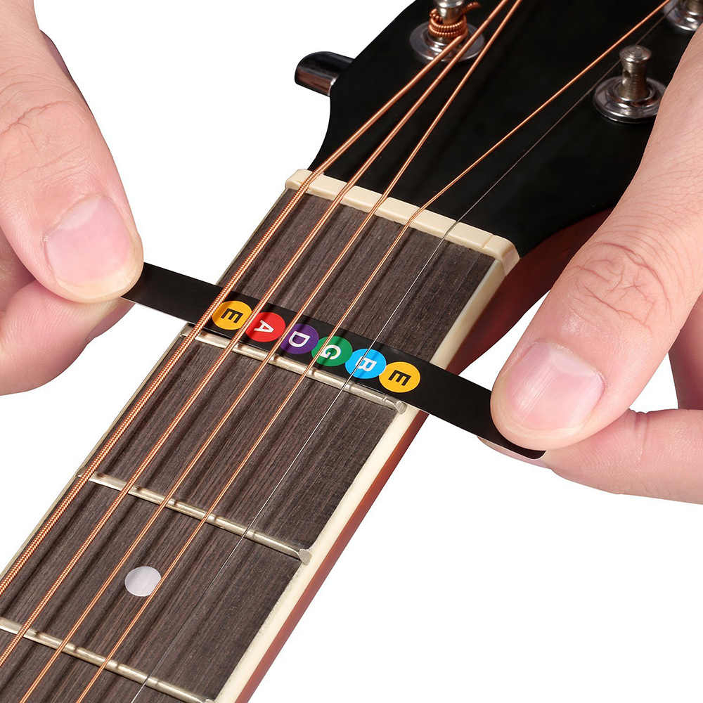 Acoustic Guitar Fretboard Note Stickers Guitar Fingerboard Frets Map Sticker for Beginner Learner Guitar Parts & Accessories