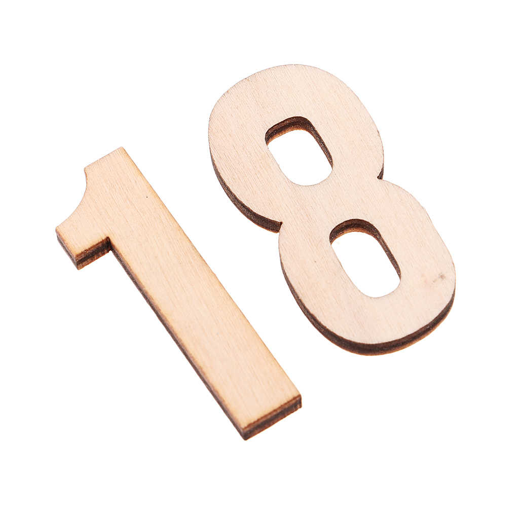 Wooden Letters and Numbers Alphabet Plywood Blank Shapes Crafts Embellishment