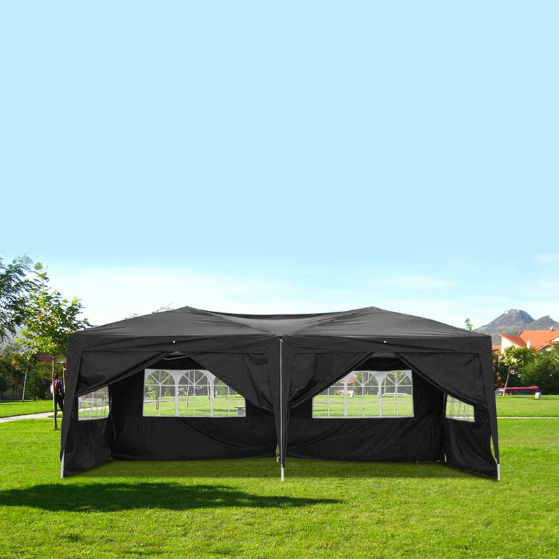 3X6 m jardin partie Gazebo extérieur pique-nique barbecue ménage pliant auvent Pergola publicité parasol tente soleil abri bâche auvent